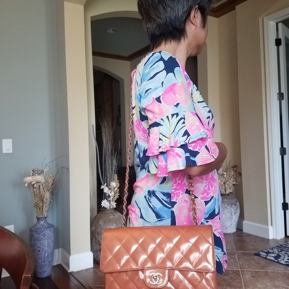 CHANEL Handbags - Authentic Chanel Quilted Patented Leather Salmon